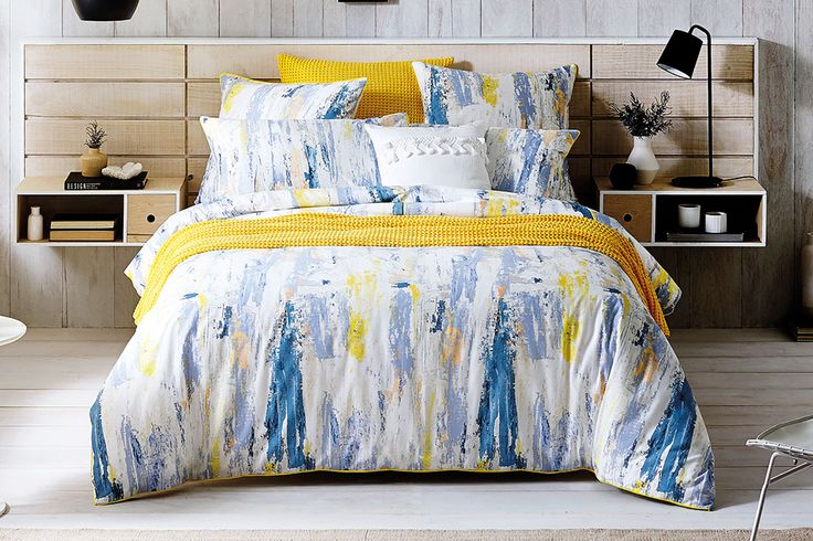 Colour makes a grand entrance with this fabulous Walkings Breeze Duvet Cover Set by Sheridan.