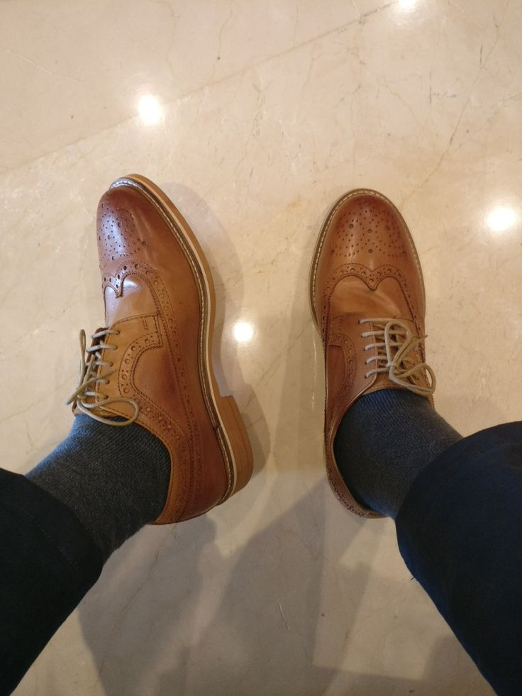 Brown Brogues are must haves in man's wardrobe.