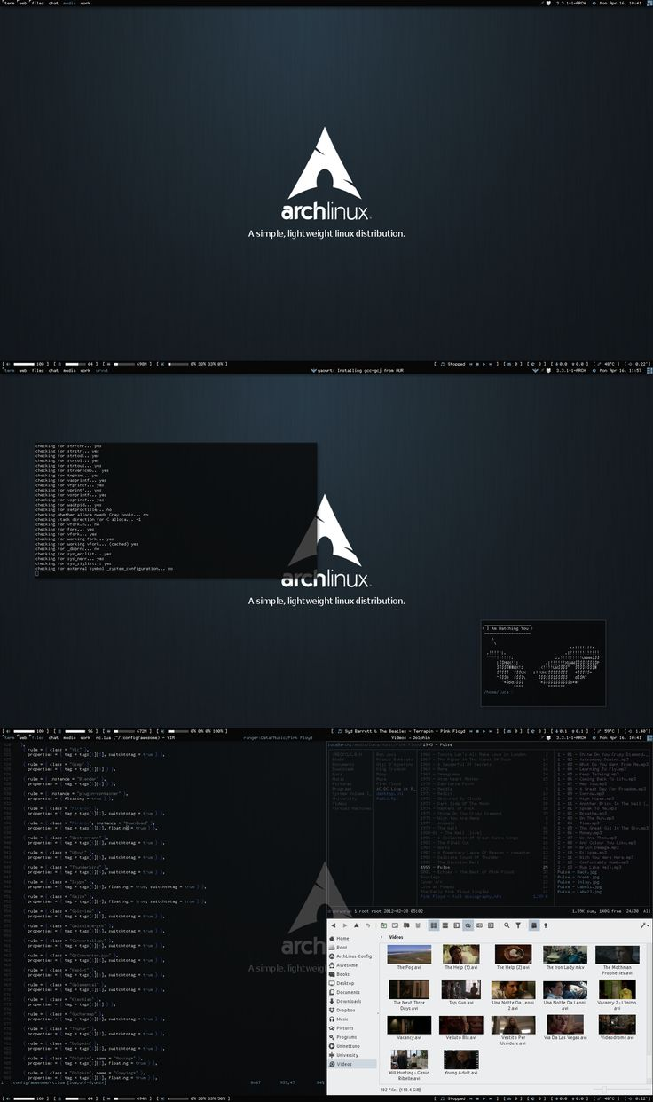 Arch Linux : Awesome WM