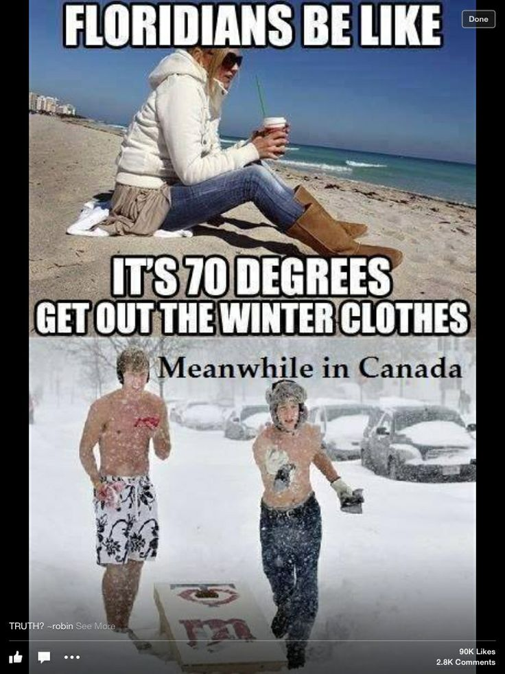 I'm a Floridian and I can confirm this is true