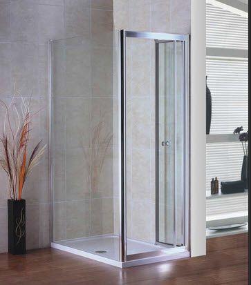 αναδιπλούμενη πόρτα ντουζιέρας, που συνδιάζεται με σταθερό πλαινό πλαίσιο. σε όλες τις διαστάσεις
