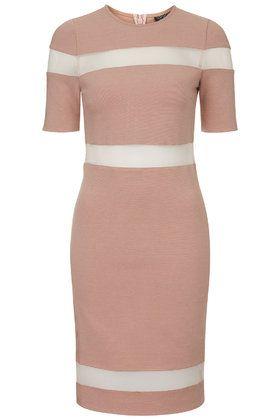 Sheer Stripe Bodycon Dress