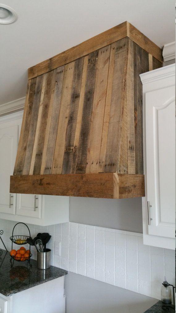Wood Chimney Hoods ~ Rustic range hood custom vent cover by