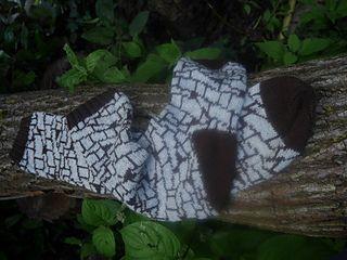 Op-Art socks stephanie van der linden