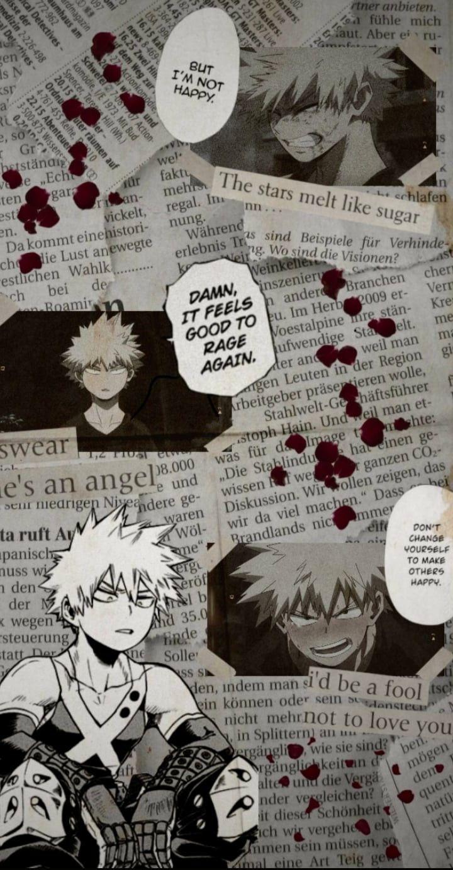 Katsuki Bakugou Phone Wallpaper Anime Backgrounds Wallpapers Dark Phone Wallpapers Cute Anime Guys