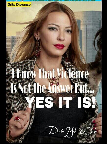 Gotta Love Mob Wives... Drita is my friend in my head :-)