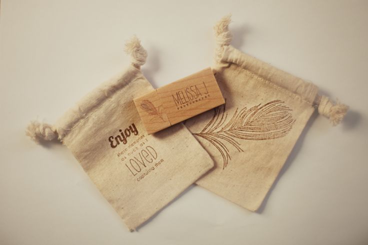 Wood promotional flash drive with pouch packaging
