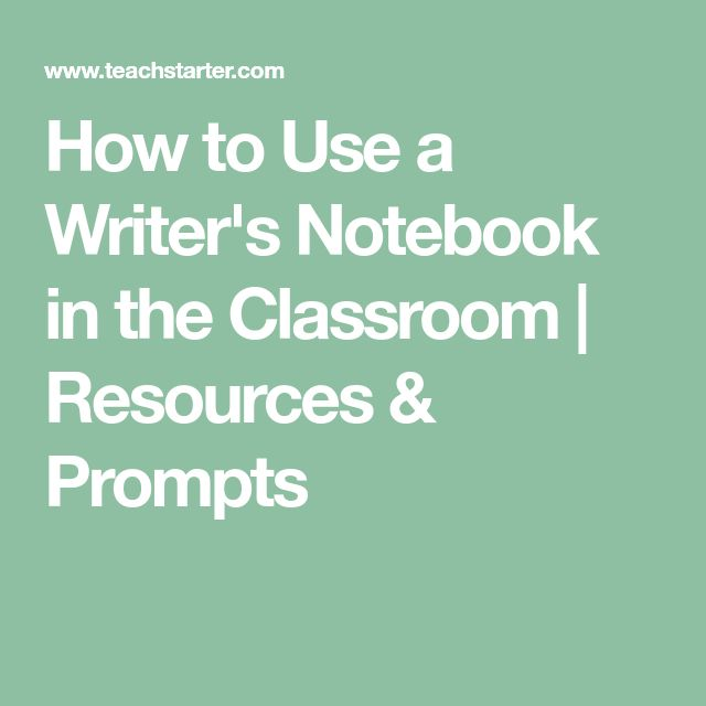 How to Use a Writer's Notebook in the Classroom | Resources & Prompts