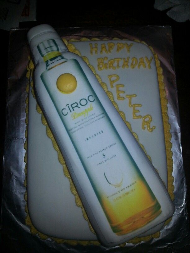 Pineapple Ciroc Cake 50th Birthday Party 50th Birthday Birthday Parties