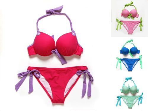 Lady New Summer Beach Push Up Padded Bra Comfortable Swimwear Swimsuit