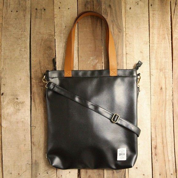 totebag 201 black. $ 25.83. material: leather. size: 40 x 35 x 6 cm. #totebag #totebagleather