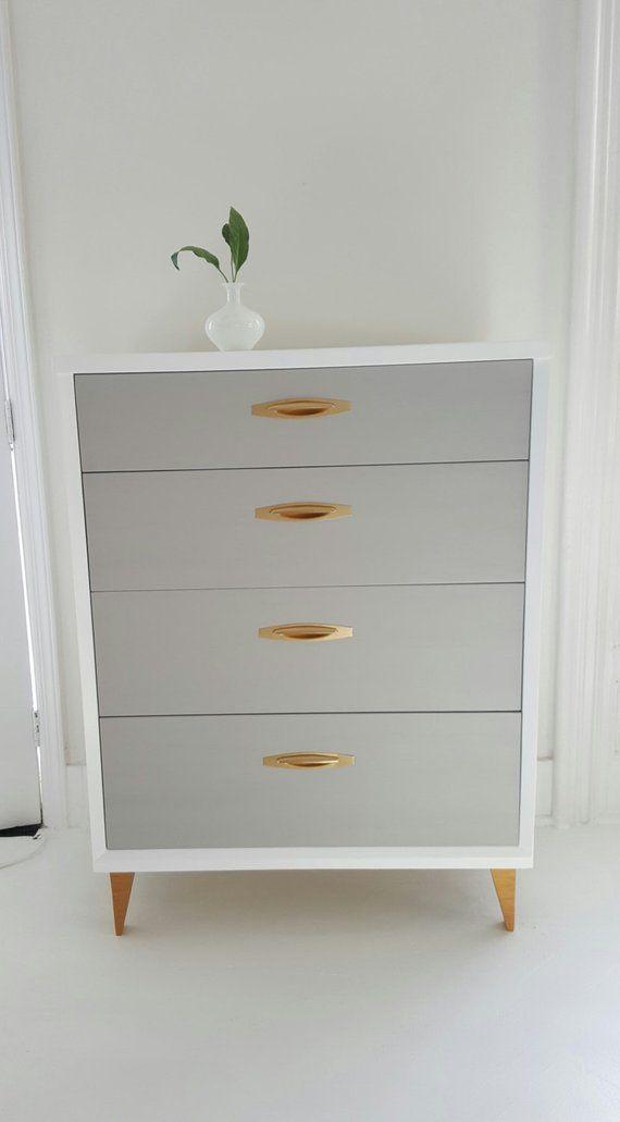 Soldlovely Mid Century Dresser Vintage Dresser Painted Vintage