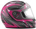Choko Full Face Graphic Snowmobile Helmet  #snow #snowmobile #clothing #women #black #pink #fuchsia #firstplaceparts www.firstplaceparts.com