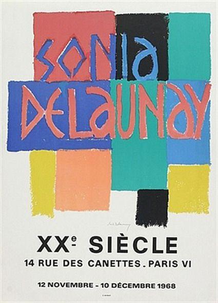 """le-jaune:  """" SONIA DELAUNAY-TERK  SONIA DELAUNAY, 1968  """""""