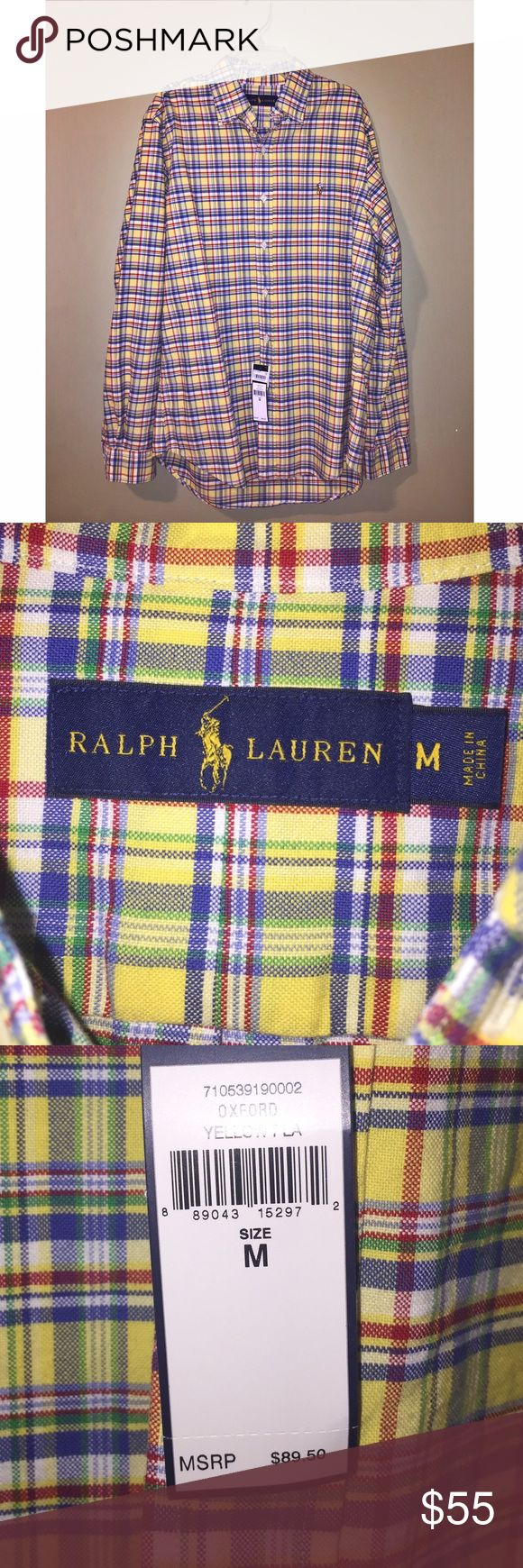 POLO RALPH LAUREN PLAID BUTTON DOWN This is a brand new with tags Polo Ralph Lauren Button Down shirt! It is a size Medium! Polo by Ralph Lauren Shirts Casual Button Down Shirts