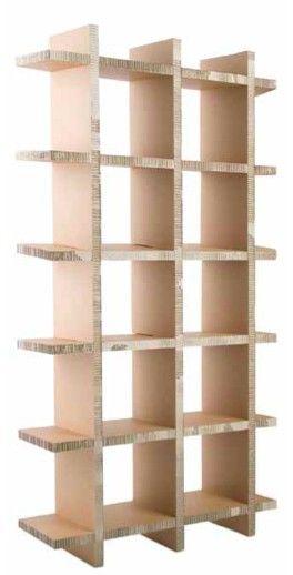 Wat: Wall Unit Ontwerper/fabrikant: Raw Eco design Herkomst: Nederland Materiaal: Karton Prijs: €207,00