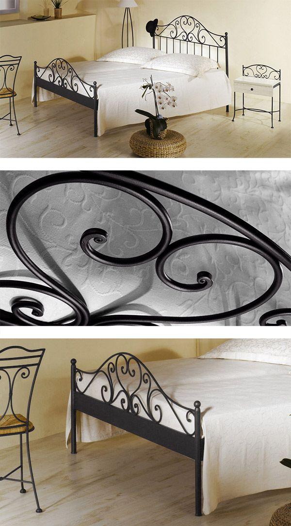 """Stabiles Metallbett """"Loria"""" für mediterranes Flair im Schlafzimmer.   Betten.de #metallbett #schlafzimmer http://www.betten.de/spanisches-metallbett-140x200-braun-loria.html"""