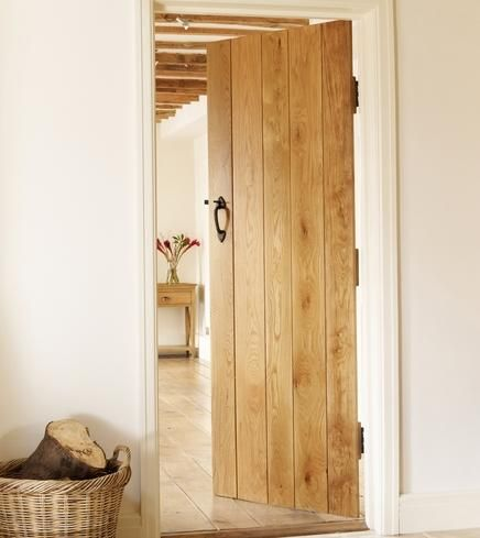 Solid oak ledged and braced internal doors. Doing all the doors like this! #howdens