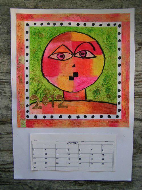 Calendrier à partir de Paul Klee