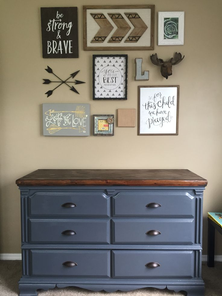 Gallery Wall & refinished dresser