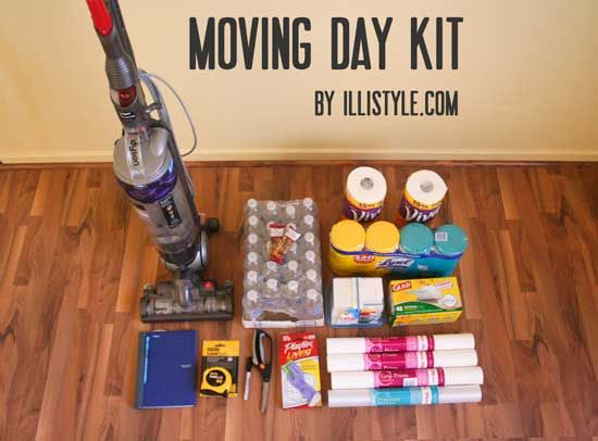 Prepare for moving into your new home. The first day at your new home. Moving day kit -  illistyle.com