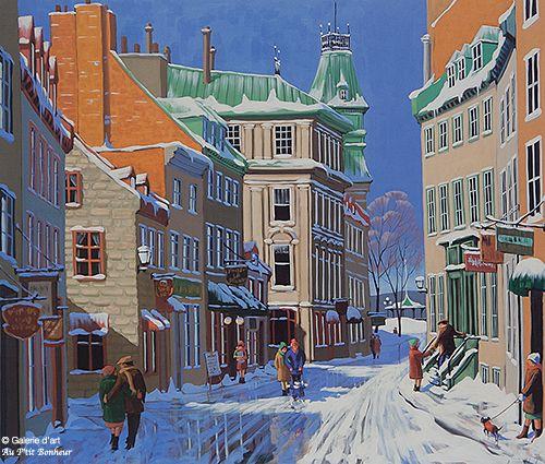 Rémi Clark, 'L'hiver à Québec', print/reproduction   Galerie d'art - Au P'tit Bonheur - Art Gallery