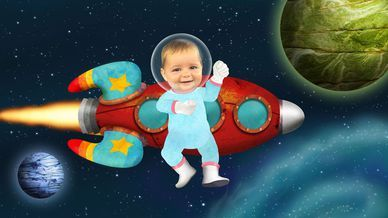 Baby Jake Loves Space Painting