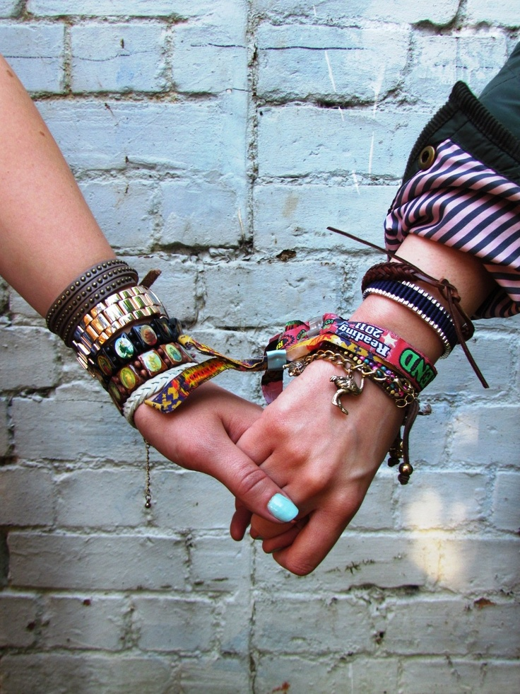 Festival bracelets arm candy. The best part about friendship bracelets are THE FRIENDSHIPS!!! =)