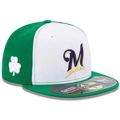 Milwaukee Brewers New Era Authentic Collection St. Patrick's Day On-Field…