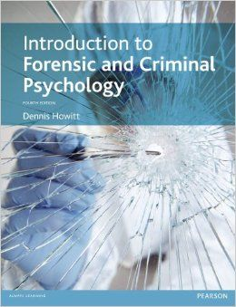 This is a fascinating and informative introduction to forensic & criminal psychology  that provides up-to-date, clear, critical and comprehensive coverage of the subject in a student-friendly style.  Follow this link to read it online in our Dawsonera eBook database if you are a Swindon College student: https://www.dawsonera.com/abstract/9781405874496