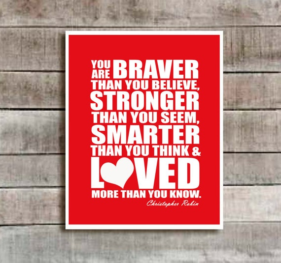 Red Christopher Robin Quote Nursery decor by SweetSiennaPrints, $18.00