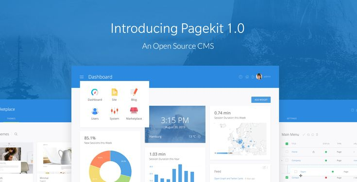 Pagekit is a modular and lightweight CMS built with modern technologies like Vue.js and Symfony components.