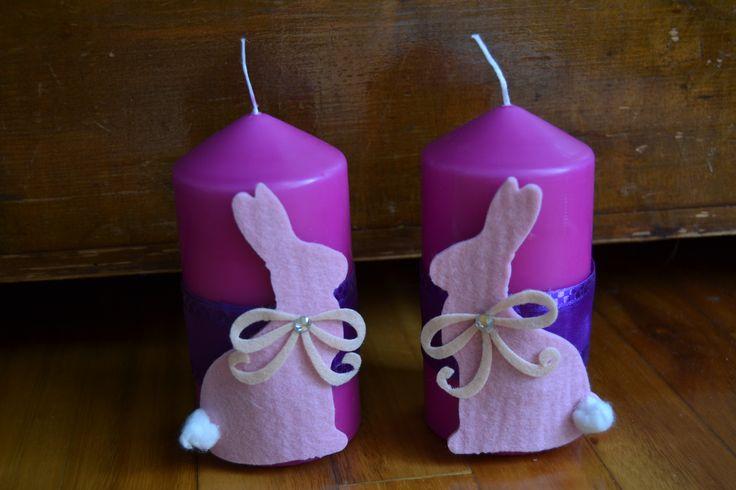 Candele decorate con il tocco del fiocchetto de La Coppia Creativa