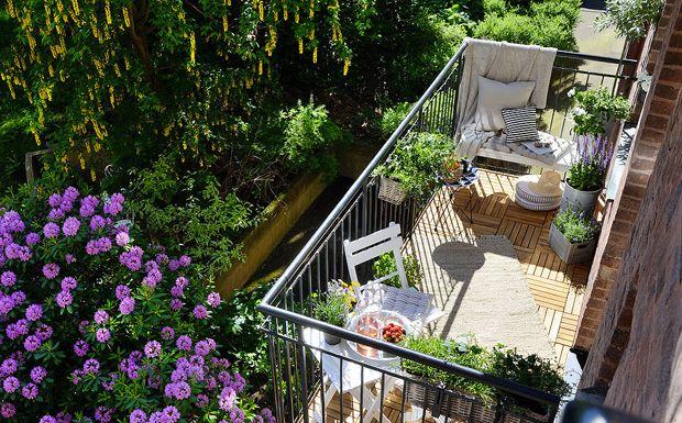 Un balcon plein de charme - Aujourd'hui c'est une petite visite spéciale balcon que nous vous avons réservé... En effet, nous sommes tombés sous le charme de cet aménagement absolumen