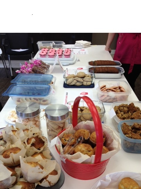 TRG Group Benefits Team had a Baking Fund Raiser for the Breast Cancer Foundation and raised $501.00