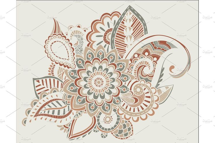 Flower Pattern Bright Abstract wallpaper vintage by YashkovskiyMD on Creative Ma...