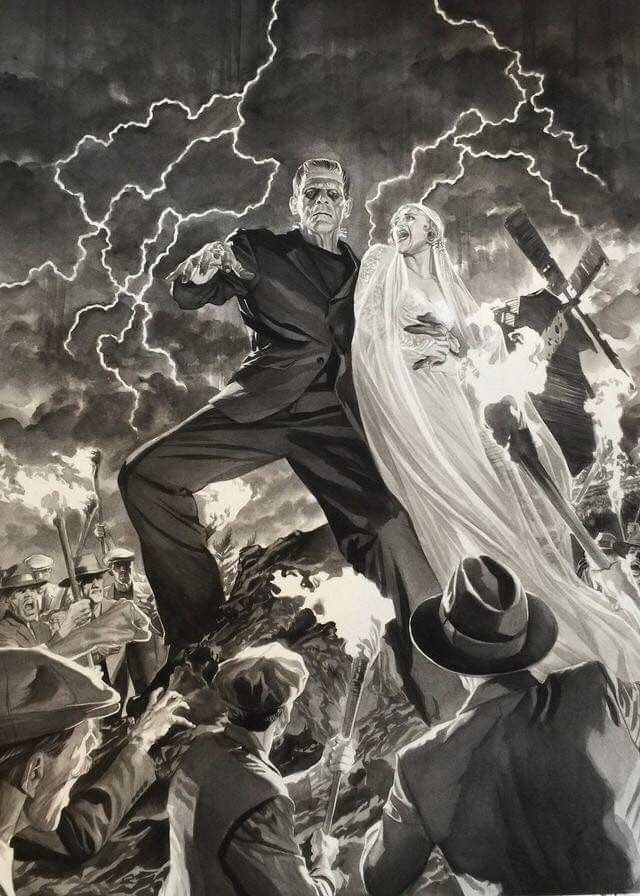 Universal Classic Monsters Art : Frankenstein 1931 by Alex Ross.