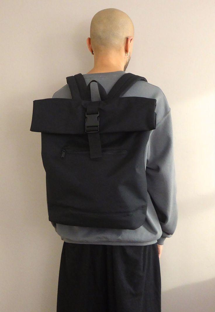 New Minimalist Slimline Backpack in Black | WWYF | ASOS Marketplace