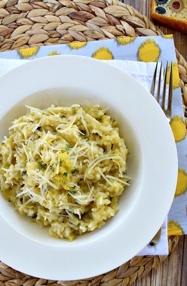 Lemon Zucchini Risotto More