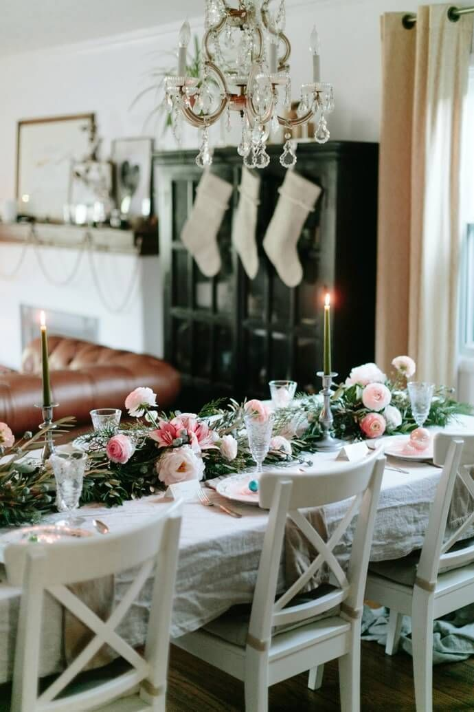 Feminine Tablescape For A Girls\u0027 Holiday Party HOLIDAY DECORATING