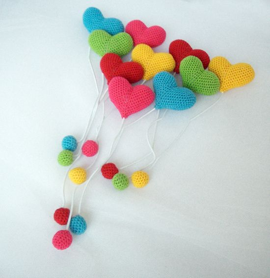 Crocheted Heart Bookmarks Inspiration