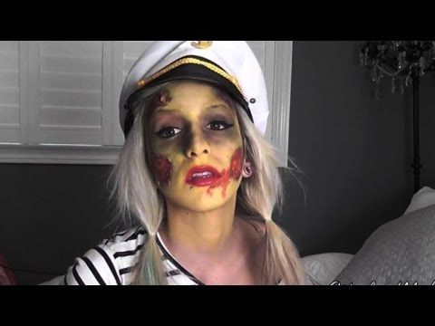 ▶ Zombie Sailor Halloween Tutorial (VERY easy!) - YouTube
