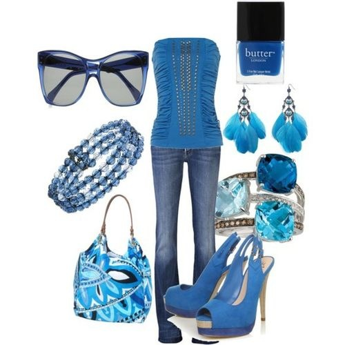 POLYVORE / Blue, created by wishesndreams on Polyvore