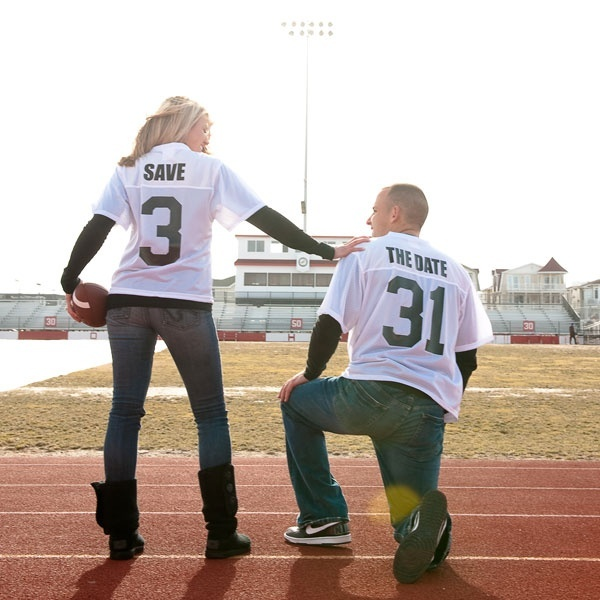 Kyle is a huge football fan, I know that he would love this idea! Id like him to be involved and actually interested in the whole process of wedding planning  this might be just the ticket!