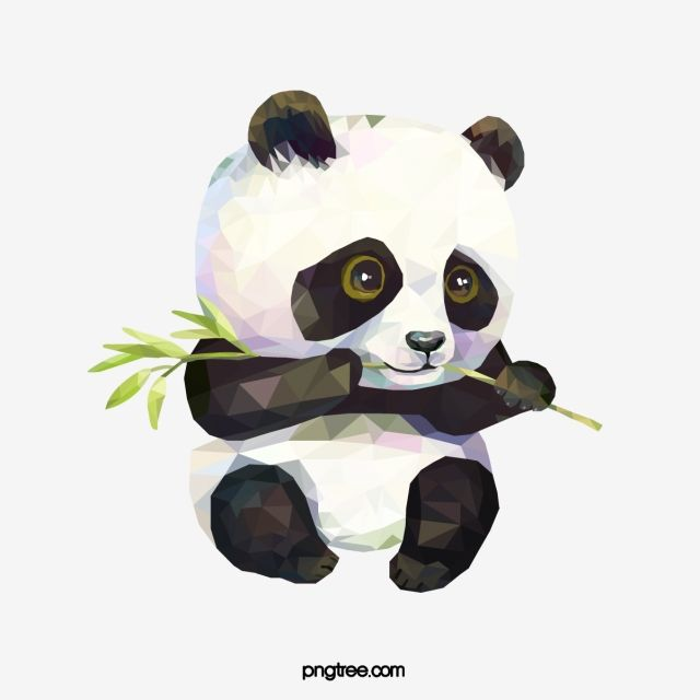 Poligono Bonito Comendo Panda Vermelho De Bambu Png E Psd Milyj Multfilm Raskraski Disnej Panda