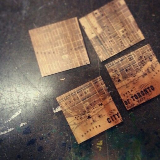 city of toronto archive map coasters printed on wood resurfaced.ca
