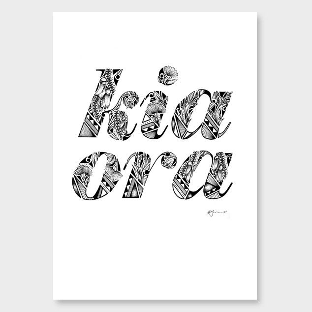 Kia Ora Art Print by Kate Hursthouse - All Art Prints NZ Art Prints, Art Framing Design Prints, Posters & NZ Design Gifts   endemicworld