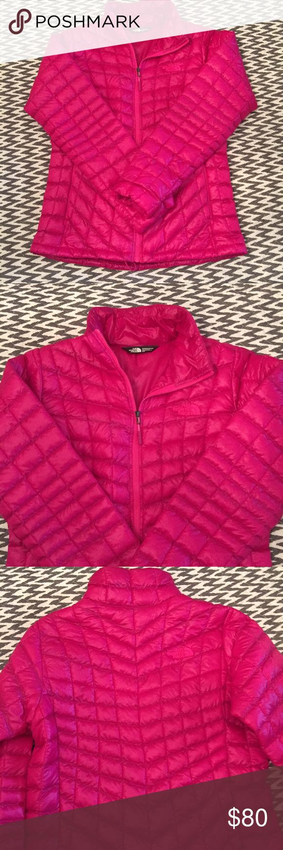 North Face Thermoball Jacket New hot pink Thermoball jacket. Worn once. Too many puffy jackets unworn in my closet! This beauty deserves to be worn! North Face Jackets & Coats Puffers