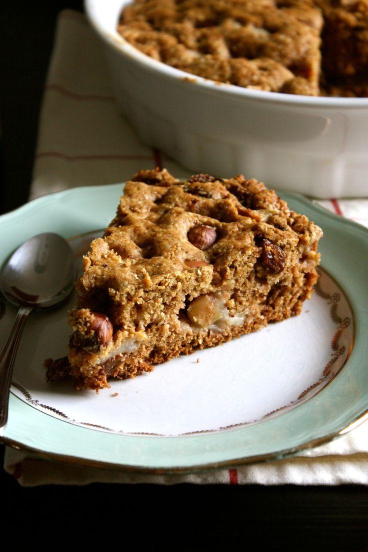 Gâteau rustique pomme-noisette #vegan