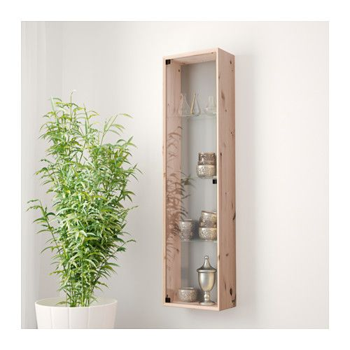 HANG 2 ON DR WALL, MIRROR AND PUCK LIGHT INSIDE FOR GLASS COLLECTION NORNÄS Glass-door wall cabinet  - IKEA